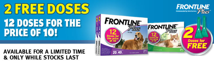 12 doses of Frontline Plus for the price of 10
