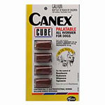 Canex Cube Palatable Allwormer for Medium Dogs 10kg 4 pack