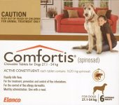 Comfortis for Extra Large Dogs 27.1-54kg 6 pack (Brown)