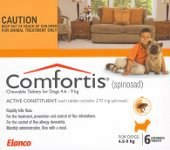 Comfortis for Dogs 4.6-9kg and Cats 2.8-5.4kg 6 pack (Orange)