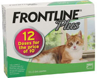 Frontline Plus Cat All sizes (Green) 12 pack
