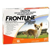 Frontline Plus Small Dog Up to 10kg (Orange) 3 pack