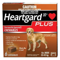 Heartgard Plus Chews Large Dog 23 to 45kg (Brown) 6 pack