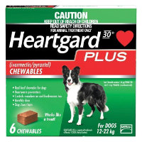 Heartgard Plus Chews Medium Dog 11 to 22kg (Green) 6 pack