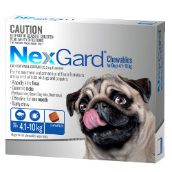 NexGard Flea and Tick Chews for Dogs 4 to 10kg (Blue)