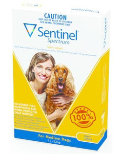 Sentinel Spectrum CHEWS for Dogs 11.5 to 22 kg (Yellow)