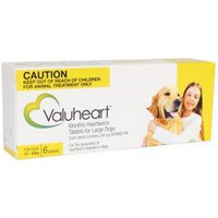 Valuheart Heartworm Tablets for Large Dogs 21-40kg (Brown) 6 pack
