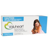 Valuheart Heartworm Tablets for Small Dogs Up to 10kg (Blue) 6 pack