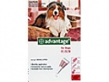 Advantage Large Dog - 10 to 25kg (Red) - 4 pack