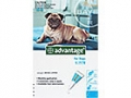 Advantage Medium Dog - 4 to 10kg (Teal) - 4 pack