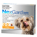 NexGard Flea and Tick Chews for Dogs 2 to 4kg (Orange)
