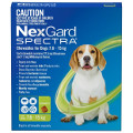 NexGard SPECTRA for Medium Dogs 7.6-15kg (Green)