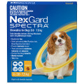 NexGard SPECTRA for Small Dogs 3.6-7.5kg (Yellow)